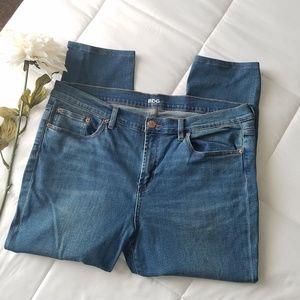 BDG Easy Rider skinny crop blue jeans